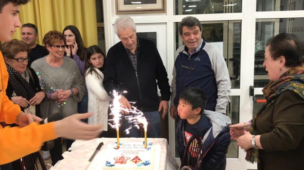 La Presidente Maria Lidia Contratti co i Soci Bruno e Vanni